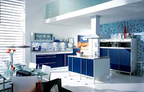 Κουζίνα σε μπλε αποχρώσεις