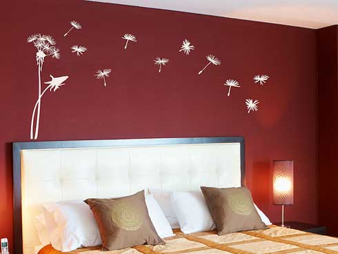Αυτοκόλλητα τοίχου κρεβατοκάμαρα