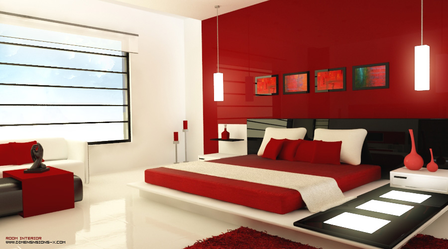 for Red and black themed living room