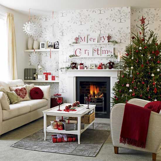 Τζάκι και χριστουγεννιάτικη διακόσμηση 1