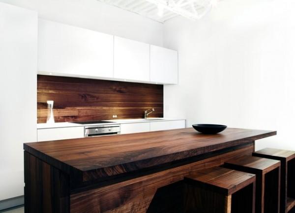 Ξύλινη τραπεζαρία - κουζίνα